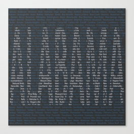 Alabama and All Her Cities Canvas Print