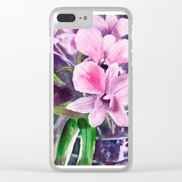 20121005 Marvin's Orchid Clear iPhone Case