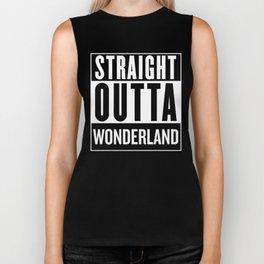Straight Outta Wonderland Biker Tank