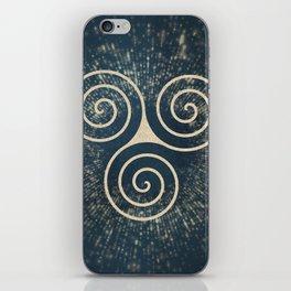 Triskelion Golden Three Spiral Celtic Symbol iPhone Skin