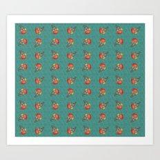 Puki Owl Pattern Art Print