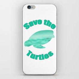 Save the Turtles iPhone Skin