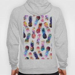 watercolor and nebula pineapples illustration pattern Hoody