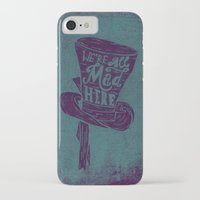 alice wonderland iPhone & iPod Cases featuring Alice in Wonderland by Drew Wallace