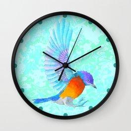 Blue Kingfisher Wall Clock