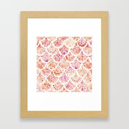 UNDERTOW Coral Mermaid Scales Framed Art Print