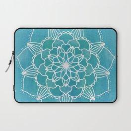 Flower Mandala Aqua Blue Laptop Sleeve