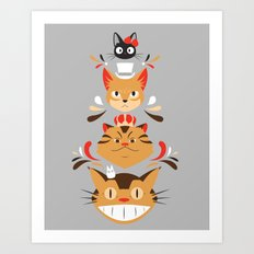 Studio Kitty Art Print