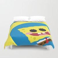 spongebob Duvet Covers featuring Spongebob Squarepants by Eyetoheart