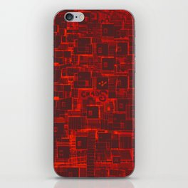 Adventure Black on Red iPhone Skin