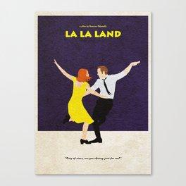 La La Land Alternative Minimalist Film Poster Canvas Print