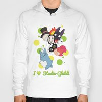 studio ghibli Hoodies featuring I ♥ Studio Ghibli by Lacis
