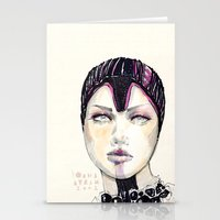fashion illustration Stationery Cards featuring Fashion illustration  by Ioana Avram