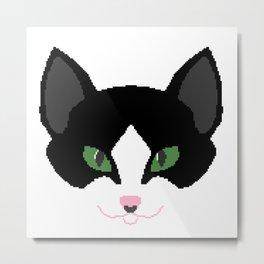 Pixel Cat Metal Print