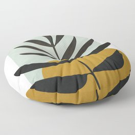 Soft Abstract Large Leaf Floor Pillow