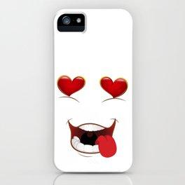 Male Lustful Heart Eyes iPhone Case