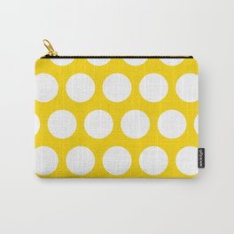 Big polka dots on gold color Carry-All Pouch