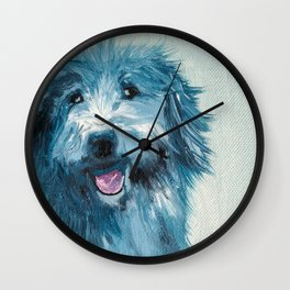 Henry - Portraits Of My Dog Friends Wall Clock