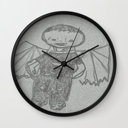 Goth Boy Wall Clock