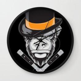 Savage Society: Monocle Monkey Wall Clock