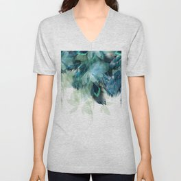 DREAMY FEATHERS & LEAVES Unisex V-Neck