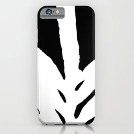 Green Fern White and Black iPhone Case