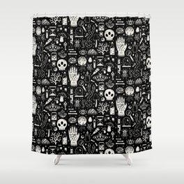 Curiosities: Bone Black Shower Curtain