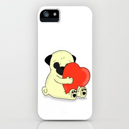 PugHugs iPhone Case