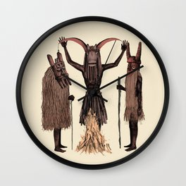 Witch doctors Wall Clock