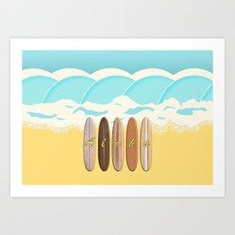 Aloha Surf Wave Beach Art Print