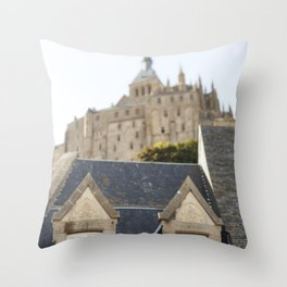 Like a City on a Hill - travel photography Throw Pillow