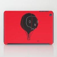 hot air balloon iPad Cases featuring Hot Air Balloon Skull by Fupete Art
