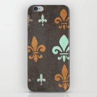 fleur de lis iPhone & iPod Skins featuring Fleur de lis #2 by Camille