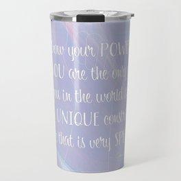 Know Your Power - Nancy Pelosi Quote Travel Mug