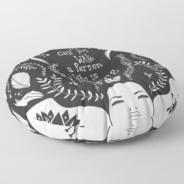 You can not wake a person who is pretending to be asleep inspirational, B&W Floor Pillow