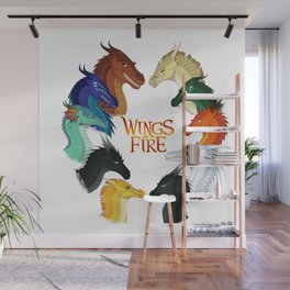 Wings of Fire Dragon - All Together Painting Wall Mural