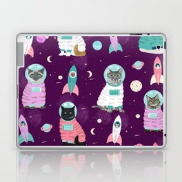 Space Cats pet portraits cute cat gifts cat lady outer space cadet rockets Laptop & iPad Skin