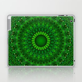 Green Garden Mandala Laptop & iPad Skin