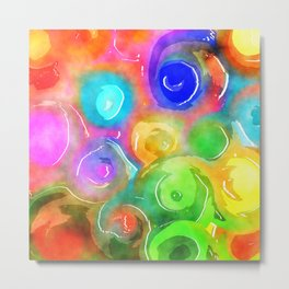 Watercolor Swirl Wash Metal Print