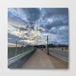 Sunset from Washington DC bridge  Metal Print