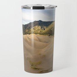 Great Sand Dunes Framed by the Sangre de Cristo Mountains Travel Mug