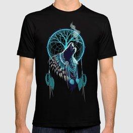 Wolf Indian Shaman T-shirt