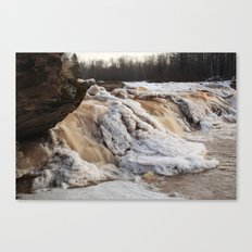 Wintry Bonanza Falls  Canvas Print