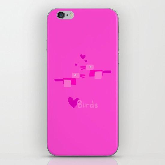Love Birds-Pink iPhone & iPod Skin