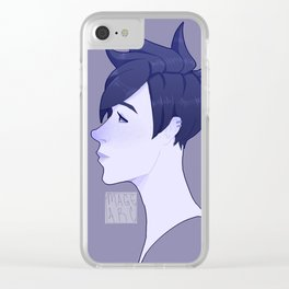Slipstream Blues Clear iPhone Case