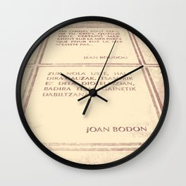 Joan Bodon [1] Wall Clock