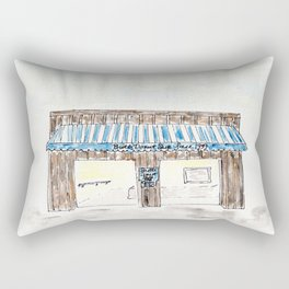 Britt's Donut Shop, Carolina Beach, NC, watercolor Rectangular Pillow