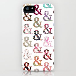 Floral Ampersand iPhone Case