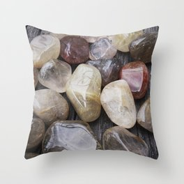 Venus' Hair Stone Rutilated Quartz #2 Throw Pillow