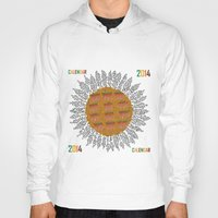 calendar Hoodies featuring Calendar 2014 - Sunflower by Julia Kisselmann